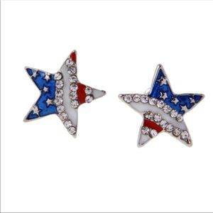 Jewelry - Patriotic Star Earrings